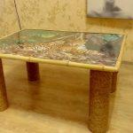 Décoration de table en mosaïque et ficelle