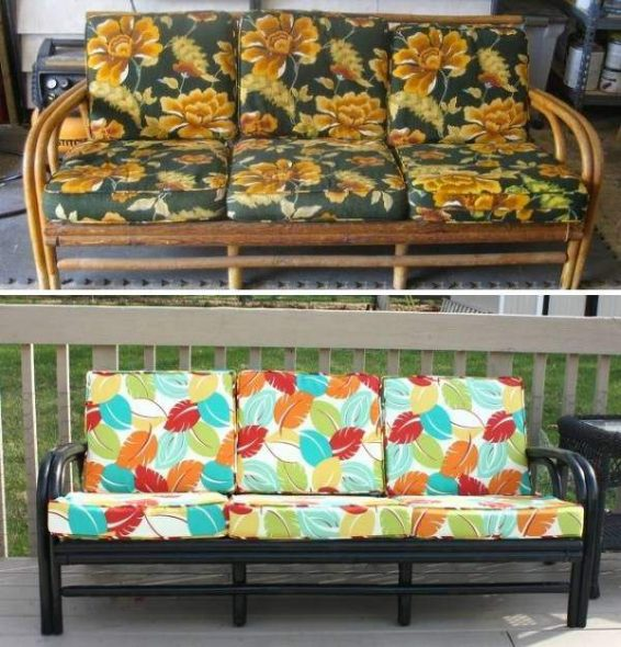 Canapé après restauration