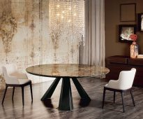 Table ronde élégante