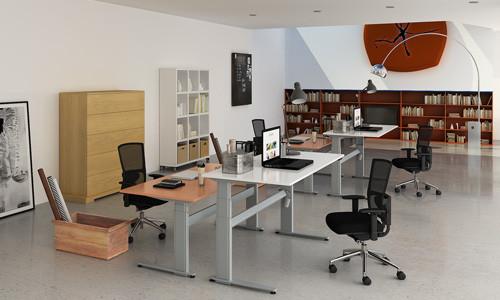 Bureau ergonomique pour travailler debout et assis