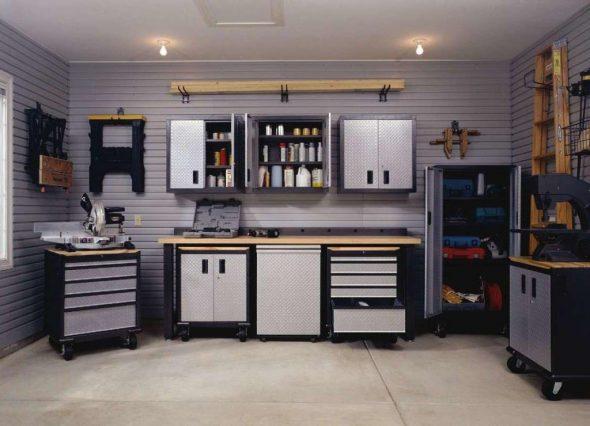 L'idée d'aménagement du garage