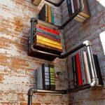 Étagères à livres à partir d'un tuyau