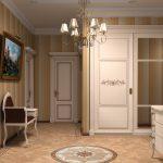 Beau mobilier blanc pour le couloir