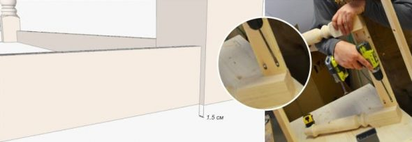 Fixer les barres transversales de la table