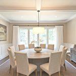 Table lumineuse ronde pour salle à manger moderne