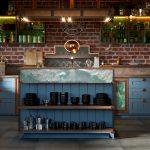 Cuisine et armoires de style loft