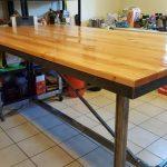 Table de cuisine design industriel