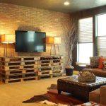 Meubles de la palette pour le salon dans le style du loft