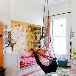 Chaise suspendue rembourrée en forme de hamac