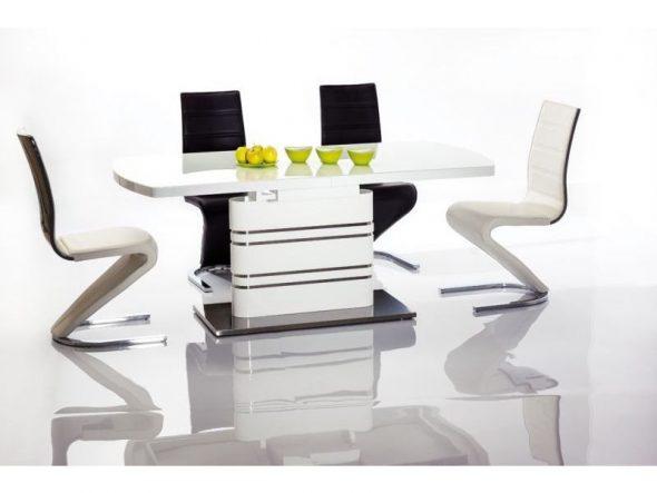 Table de salle à manger high-tech