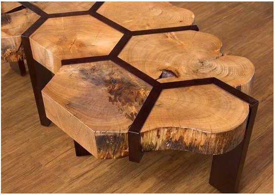 Table originale en nid d'abeille