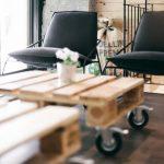 Tables basses mobiles sur roues