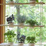 Ripustettava puinen hylly ikkunalaudan köysiin