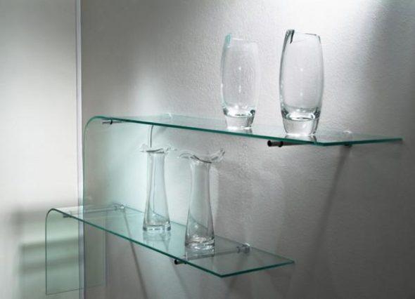 Étagères en verre