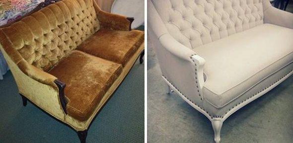Restauration d'un petit canapé
