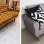 Restauration d'un vieux canapé avec une touche moderne