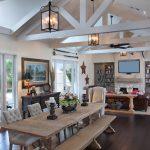 Chaise de cuisine longue rectangulaire rustique