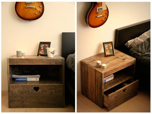 Cabinet en bois fait maison