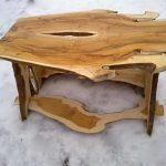 Table de planches faite maison pour les gazebos