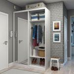 Armoire de couloir blanche