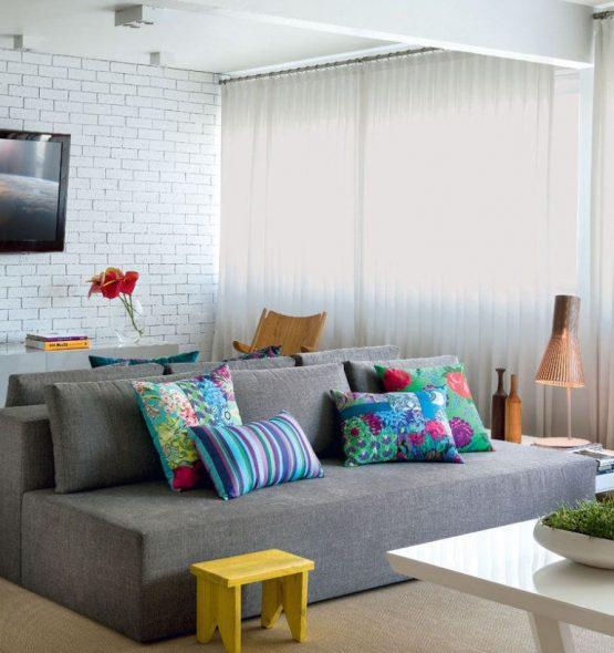 Canapé moderne tons de gris