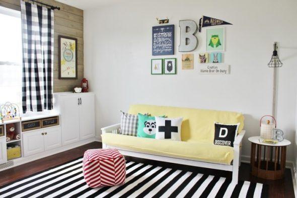 La façon de décorer le canapé - éclectique