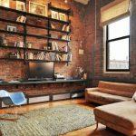 Rayonnage pour un salon insolite de style loft