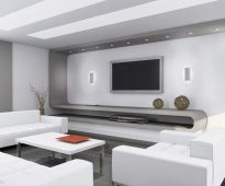 Salon blanc élégant avec un minimum de décor