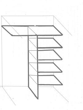 Nous mettons l'étagère horizontale