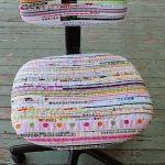 Version textile de la chaise d'ordinateur