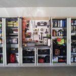 Rayonnage fermé pratique pour le garage