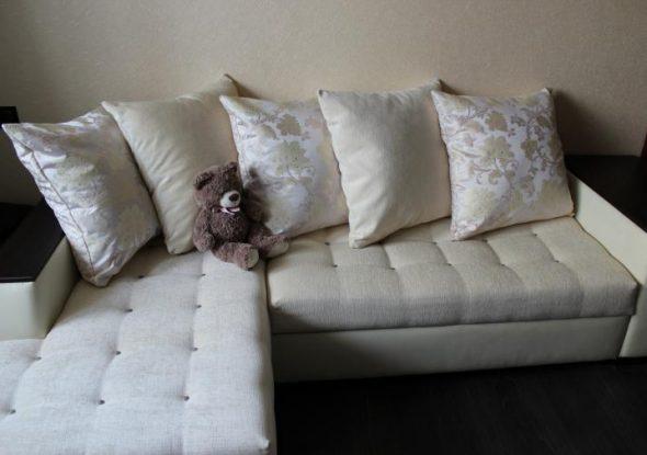 Vue du canapé après la taille
