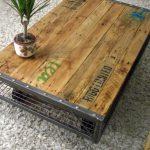 Table basse en ferraille