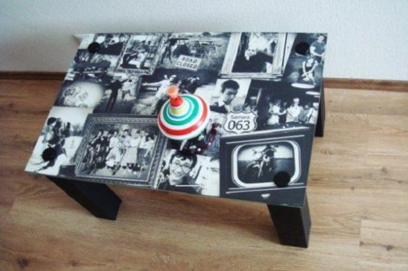Table avec photo