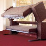 Canapé-lit superposé marron