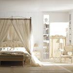 Design de chambre blanche avec auvent classique