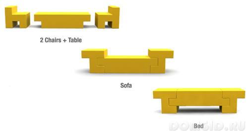 Ensemble de mobilier fonctionnel
