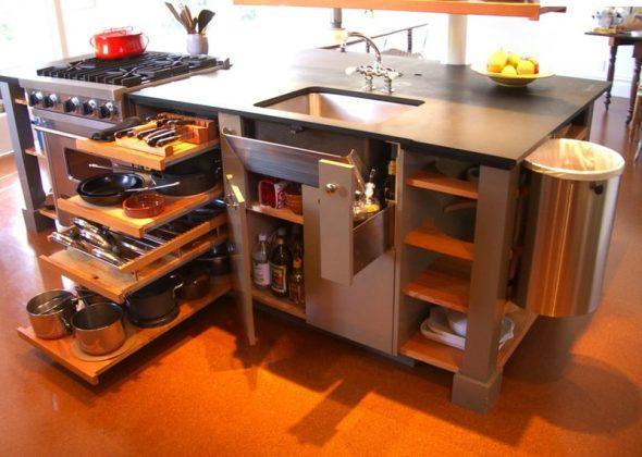 Mobilier de cuisine bien planifié
