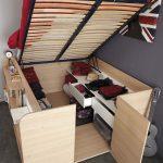 Lit-armoire pour un petit appartement