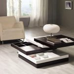 Table basse pliante avec tiroirs