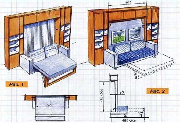 Disposition de lit armoire