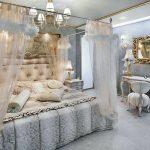 Chambre dans un auvent aéré gris-bleu