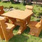 Tables De Sculpture En Bois-Mobilier De Jardin