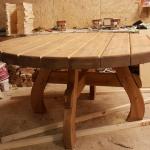 Grande table massive en bois véritable