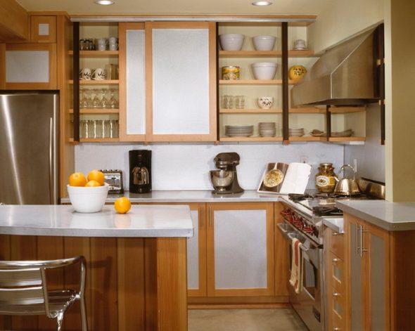 Portes coulissantes pour armoires de cuisine