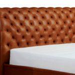 Tête de lit douce courbe brune