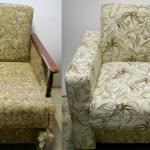Belle et confortable chaise pliante après restauration