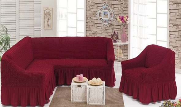 Belle couverture pour un canapé d'angle