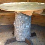 Table ronde en ferraille