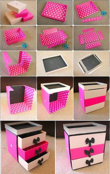 Mini coffre en carton